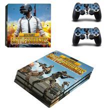 Jeu PUBG PS4 Pro autocollant Play station 4 autocollant de peau décalcomanies pour PlayStation 4 PS4 Pro Console & contrôleur peaux vinyle