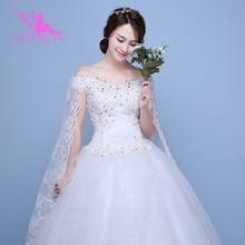 AIJINGYU 2021 foto reali di nuovo a buon mercato di vendita calda abito di sfera lace up indietro formale abiti da sposa abito da sposa WK595