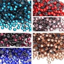 Szkło Strass kryształ DMC Hot Fix kryształ górski żelazo kamienie Flatback dżetów poprawka fioletowy poprawka dżetów na ubrania