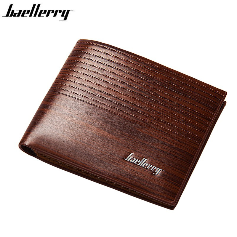 Baellerry Men Wallet Leather Vintage Purses High Quality Money Bag Credit Card Holders New Dollar Bill Wallet Billetera Hombre