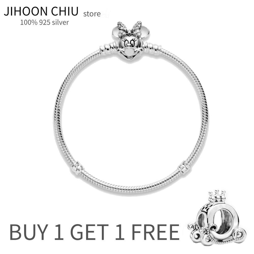 Женский браслет из серебра 100% пробы, классический браслет «сделай сам» из серебра 925 пробы