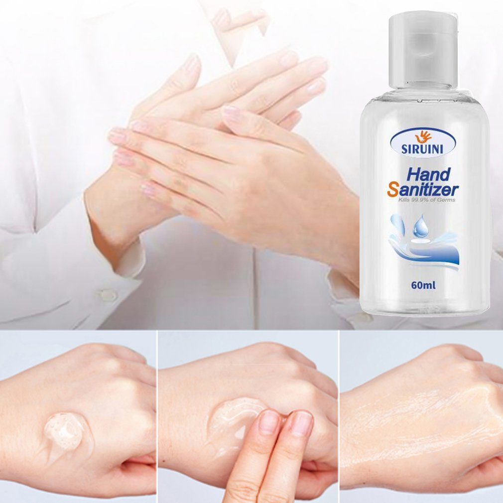1 Piece Disinfectant Hand Sanitizer Refreshing Gel Pump Bottle Universal Non-Alcoholic Household Disinfectant 30/60ml