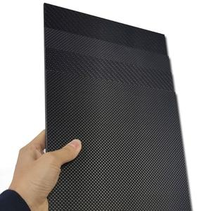 Image 5 - 400x500mm מפעל ישיר מכירה מלא 3K סיבי פחמן צלחת גיליון לוח פנל 40x50cm עובי 1 1.5 2 2.5 3 3.5 4 mm