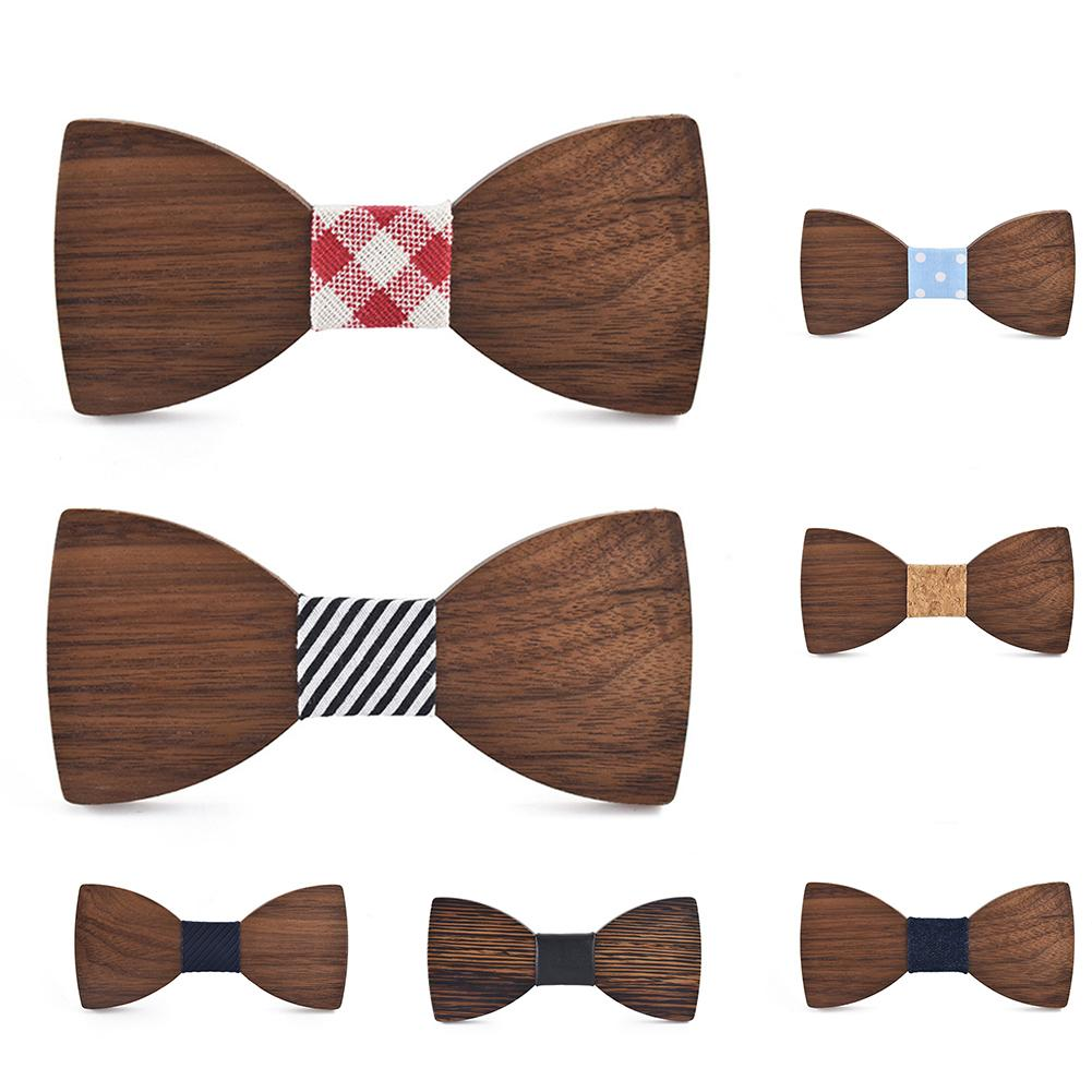 Creative Bowtie Wood Bow Ties Mens Business Necktie Men Necktie Handmade Tie Neckwear Mens Suit Accessories For Party