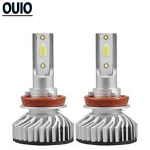 Car Headlight Bulbs 2PCS F2 H11 LED 6000K White 8000LM Fog Light H1 H4 H7 H8 H9 9005 9006 Hi/Lo Headlamp Lights Accessories