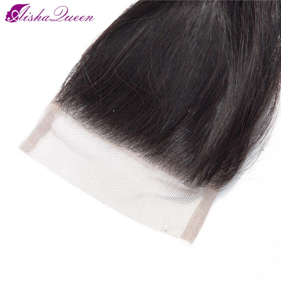 fechamento não remy do cabelo humano 3