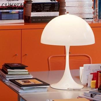 Kreatywny grzyb lampa stołowa lampka nocna do sypialni nowoczesna minimalistyczna dekoracja biurka do domu lampa biurowa oświetlenie do czytania tanie i dobre opinie ZYZAO WHITE Wiszący iron Wtyczka UE 110 v 220 v 90-260 v Button switch Żarówki LED Europejska Brak Kute 16-20 w Z aluminium