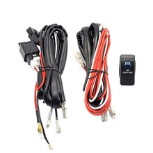 Mobil Mengemudi Lampu 5-Pin Biru LED Rocker Switch + 40A Relay Wiring Harness Kit(China)