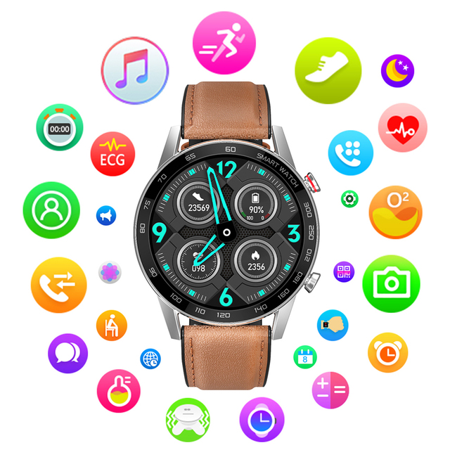 2020 New DT95 Smart Watch IP68 Waterproof Bluetooth Call 360*360 ECG Heat Rate 1.3inch TFT Sleep Monitor VS L16 L13 Smartwatch 2