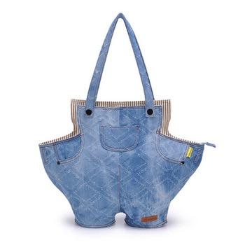 2020 personality trend canvas shoulder bag purse denim casual fashion large capacity handbag fashion denim bag torebki damskie