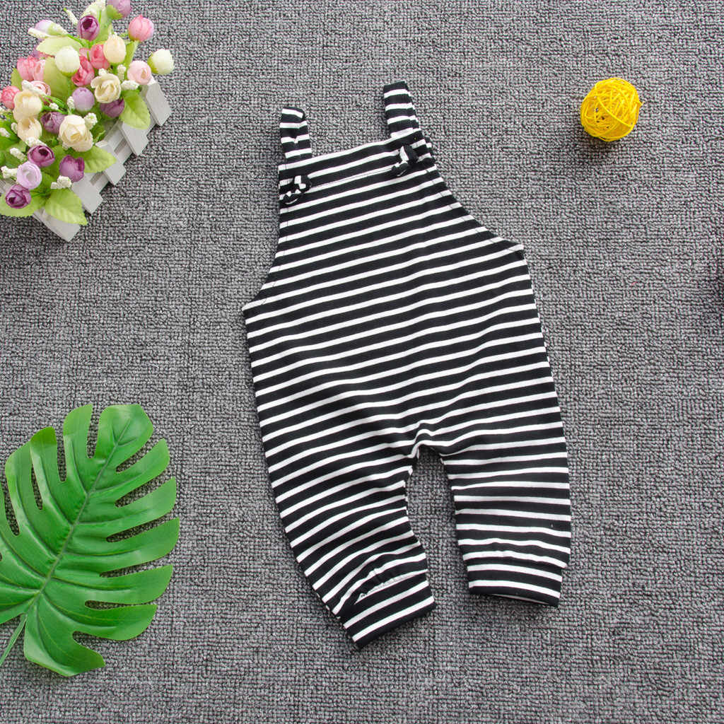 Fashion Toddler Baby Boys Girls Stripe Suspender Jumpsuit Outwear Pants Clothes 0-24M Baby Fashion Striped Bib Overalls New