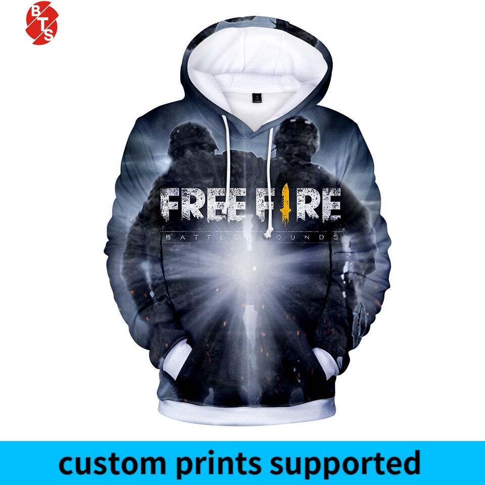 Popular Game Free Fire 2018 3D Printed Hoodies Women/Men Trendy Long Sleeve Hooded Sweatshirt Free Fire Casual Hoodies Plus Size