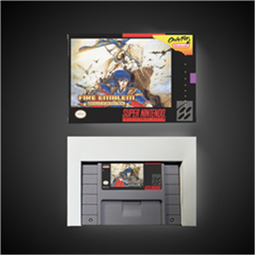Fire Emblem Genealogy of Holy War - RPG Game Card Battery Save US Version Retail Box image