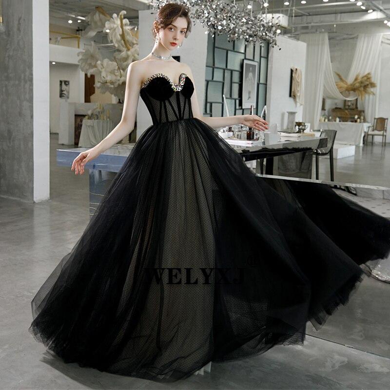 Evening Dress Long Sweetheart Beading Sexy Bride Banquet Elegant women Party Prom Dresses Robe De Soiree formal Dress
