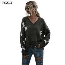 Женский зимний свитер pgsd модный Простой Трикотажный топ оверсайз