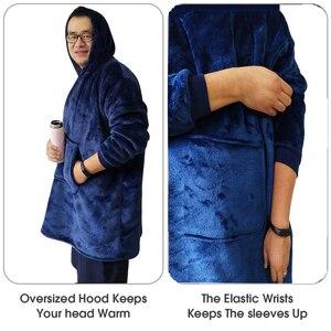 Image 4 - Couverture à capuche souple et chaude pour hiver