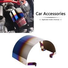 Auto Cold Air Intake Filter Cover Rvs Hitteschild Voor Kegel Filters Sport Luchtfilter Cover Hitteschild