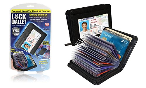 Lock Wallet - RFID Blocking Wallet For Men And Women – Protection From Identity Theft RFID Blocking Full Zip-around Protection
