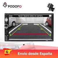 "Podofo 2 din radio de coche 7 ""reproductor Multimedia MP5 pantalla táctil digital Bluetooth USB 2din autorradio MP5 estéreo Monitor de marcha atrás"