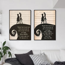 The Nightmare Before Christmas Poster Wall Art Canvas Paintings Modular Picture HD Print Poster Frame For Living Room Home Decor(China)