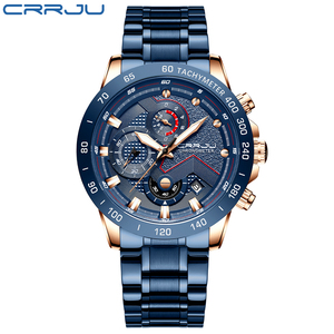 Image 2 - CRRJU montre bracelet étanche pour hommes, marque de luxe, mode Sport