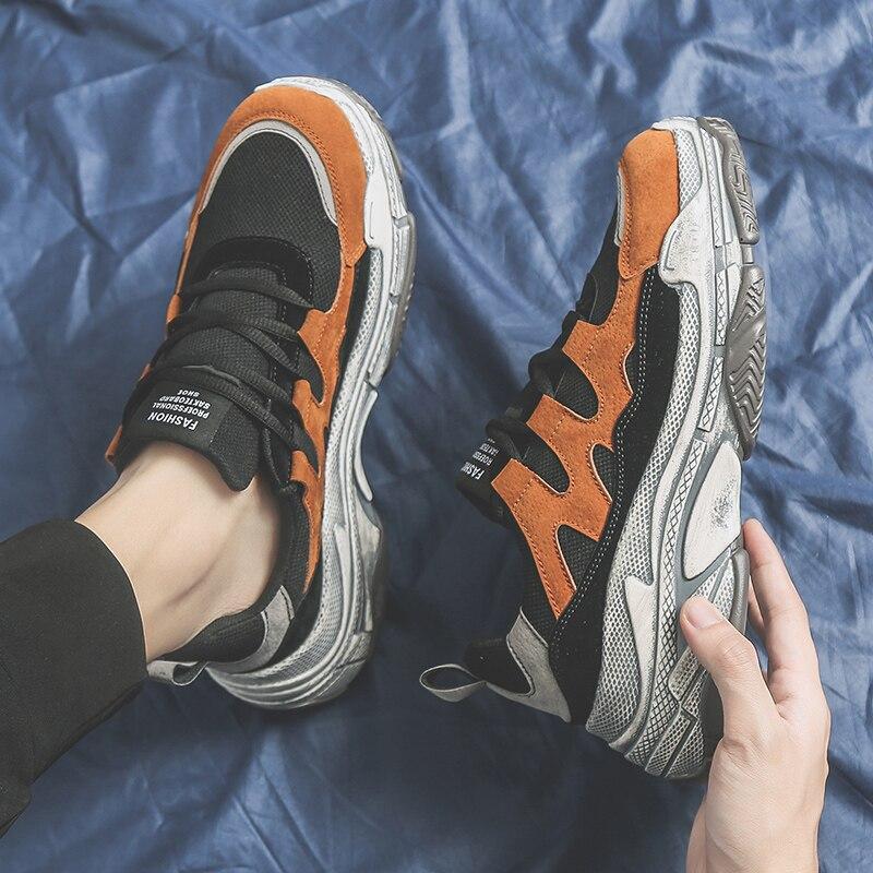 2019 Nova Moda Malha Dos Homens Confortáveis Sapatos Casuais Masculinos Sapatos Baixos Homens Tênis Respirável Sapatos Ao Ar Livre Leve R1-21