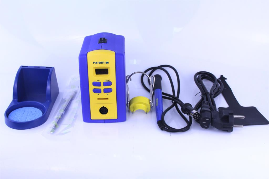 FX-951 Fx951 Digital Thermostatic Soldering Station/ Soldering Iron 110V/220V+Welding Wire