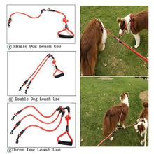 Dog leash Two Three four dogs Leash Nylon Detachable Pet Lead foam handle 1 for 2 or 3 4 Dogsround dog Traction Rope