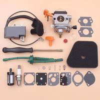 Bobina de ignição do carburador para stihl fs87 fs100 hl100 hl95 km90 km100 km130 linha filtro combustível do ar kit reparação chave de fenda aparador