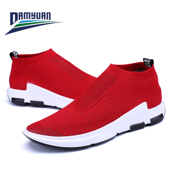 Damyuan 2020 Men Sock Sneakers Breathable Lightweight Lovers Sneaker Walking Jogging Running Tenis Mens Non-Leather Casual Shoes 2017 merrto lovers walking shoes breathable outdoor shoes suede leather for lovers free shipping mt18358 mt18357