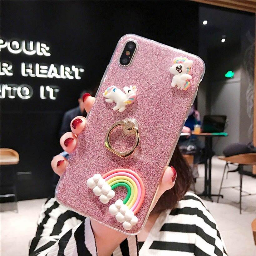 Ring Case For Xiaomi Mi A2 Lite A1 5X 6X Max 3 2 Pocophone F1 9 8 Lite SE Pro 6 5 5S Plus 4S Soft Silicone Case Cover 3D Rainbow