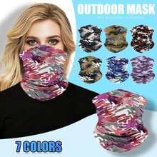 Multiuse Adult Face Mask Bandana Cotton Seamless Scarf Nose Mouth Masks Camouflage Outdoor Motorcycle Cycling Mask Cover(China)