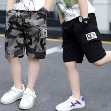 new 2020 Boys Shorts for Summer Camouflage Loose Pants Teenage Trouser Shorts Cotton Black Pants Fashion Kids Clothes 2-16 Years