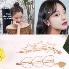2019 New Women Vintage Heart Star Geometric Alloy Hairpins Sweet Headband Hair Clips Barrettes Female Fashion Accessories
