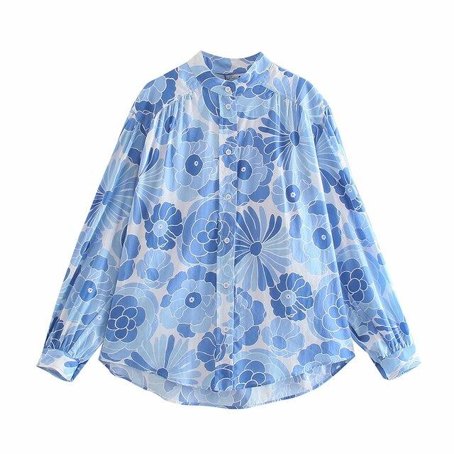 Za suit 2-piece suit new printed women Suits & shorts suits 2021 summer fashion chic pure cotton youth street women suit 5