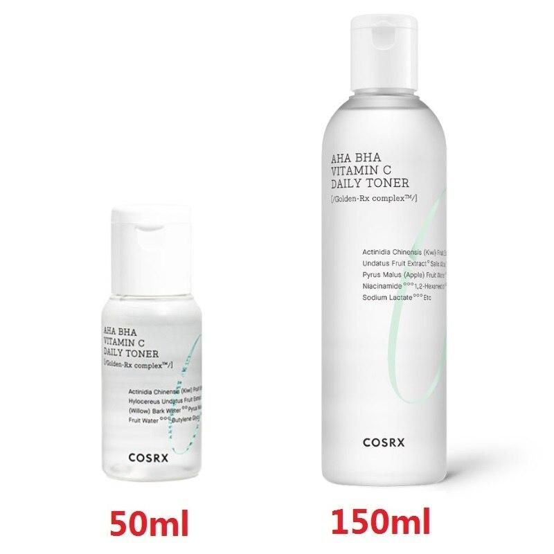 COSRX Refresh AHA/BHA Vitamin C Daily Toner 50ml / 150ml Facial Serum Enhancing Skin Flexibility Removing Dead Skin Blackhead|Serum| - AliExpress