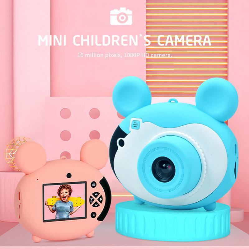 2.5 pouces Mini enfants bande dessinée caméra jouet 1080P Wifi sans fil Transmission jouet caméras pour enfants cadeaux d'anniversaire