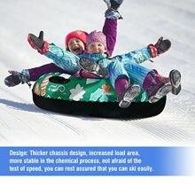Anneau de Ski flottant gonflable en Pvc, avec poignée, pour pneu de traîneau à neige, accessoires de Sports de plein air pour enfants
