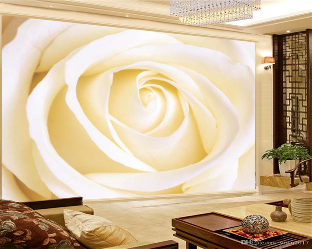 Home Interior Hd 3d Wallpaper Petite Large Rose Living Room Bedroom Tv Background Wall Wall Paper Wallpapers Aliexpress