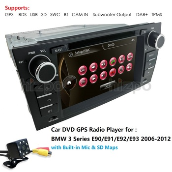 Car Autoradio DVD Player 1 Din Car GPS Navi for BMW E90 E91 E92 E93 with BT Canbus SWC RDS DAB+ TPMS Car Multimedia Player DVBT image