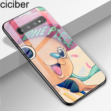 ciciber Phone Case for Samsung Galaxy S10 S9 S8 Plus S10e S10+ Tempered Glass Cover Note 9 8 Coque One Piece Cute