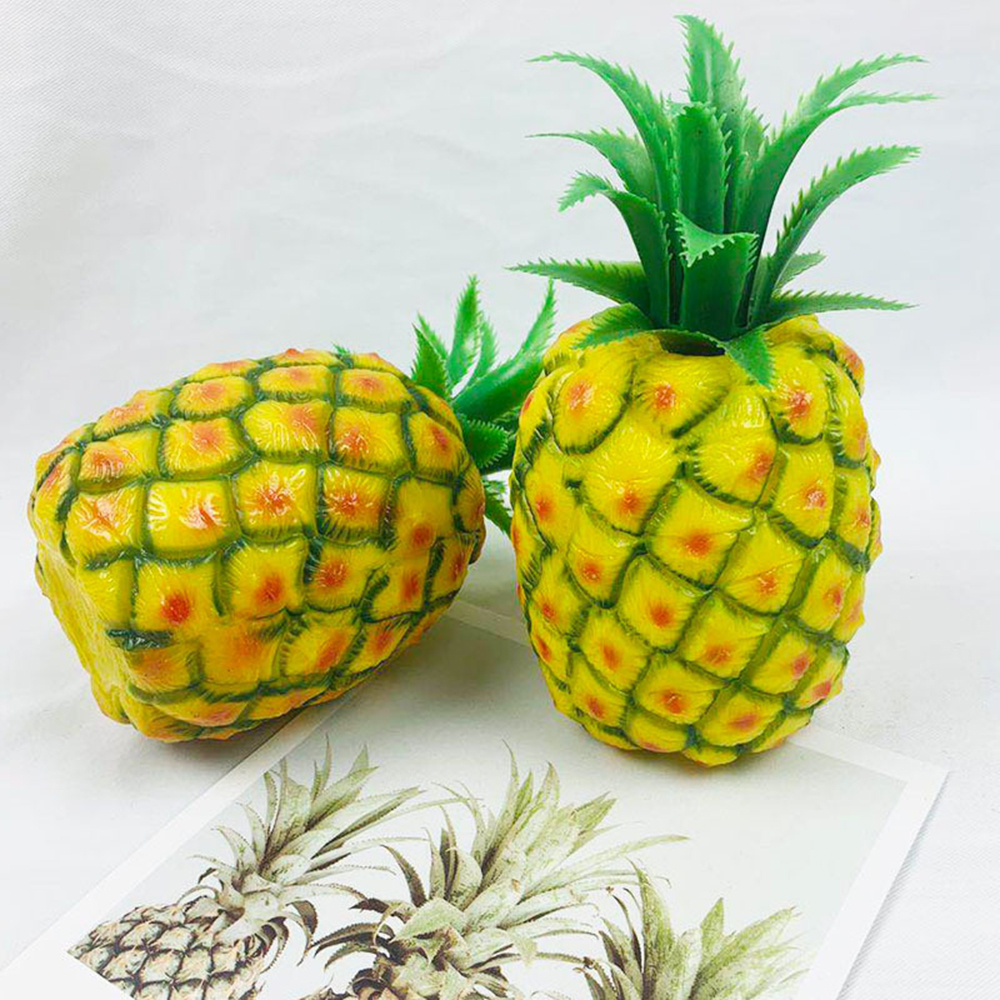 Home Decor Simulation Plastic Pineapple Artificial Fruit Model Bar Hotel Decoration Photography Props
