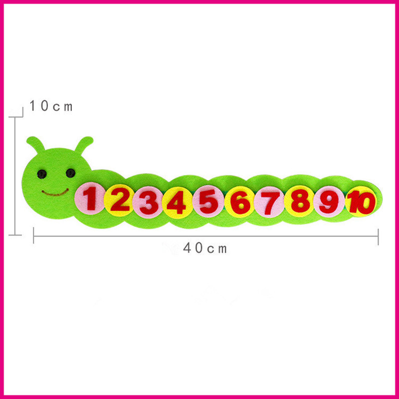 Montessori Math Toy Kids Digital Sorting Caterpillar Manual Non-woven Material Z