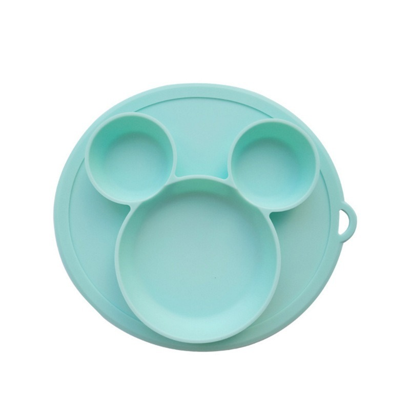 Baby Silicone Plate Kids Bowl Baby Feeding Silicone Bowl Baby Silica Gel Dishes Kids Tableware Shatter-resistant Waterproof