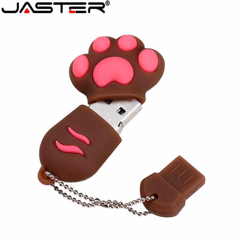 Jaster Usb 2.0 Leuke Cartoon Kat Klauwen 6 Stijlen Siliconen Flash Drive Pendrive 4Gb 8Gb 16Gb 32gb 128G Clef Memoria Sticks