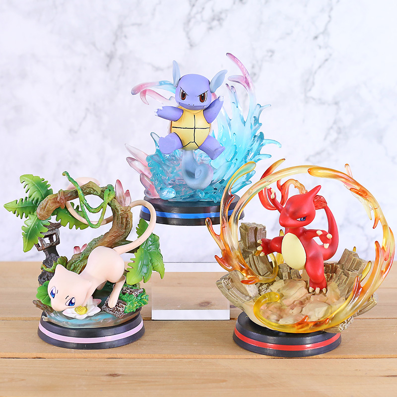 Cartoon Monster Mewtwo/Wartortle/Charmeleon Pvc Figuur Standbeeld Anime Beeldje Model Speelgoed