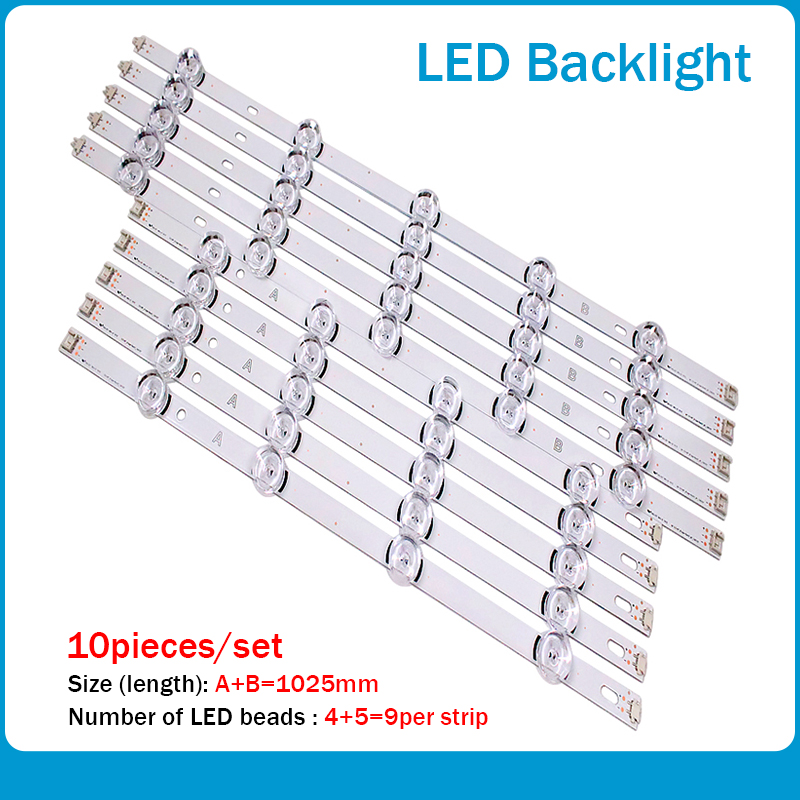 New10pcs LED Strip For LG Innotek DRT 3.0 49