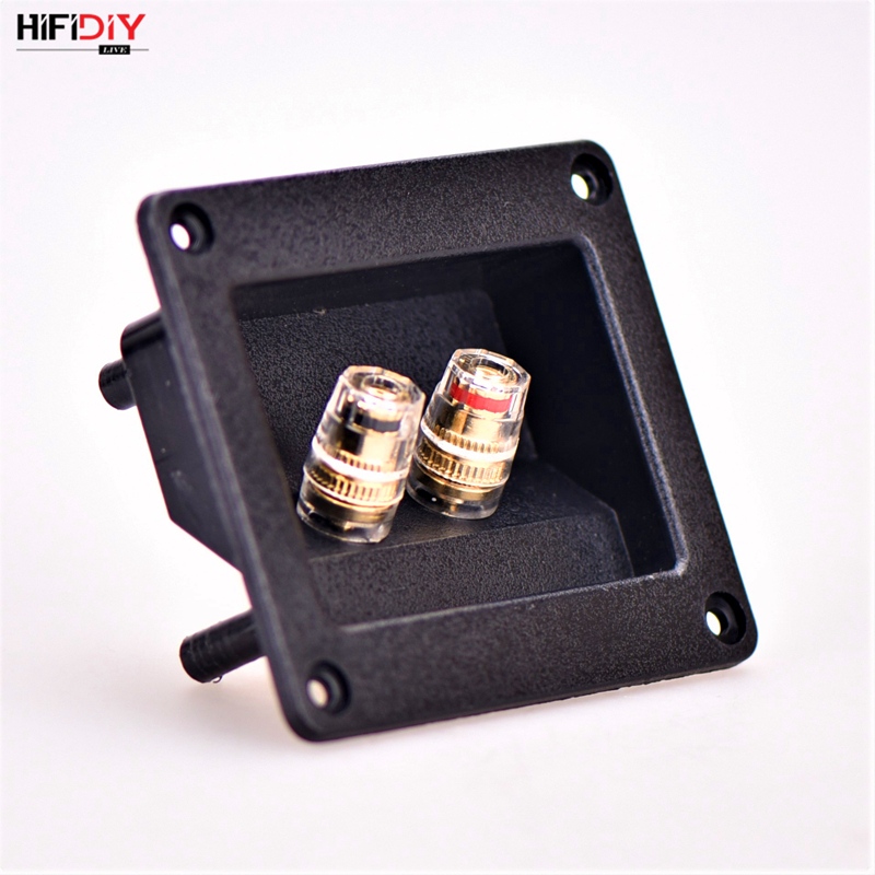HIFIDIY LIVE Speaker Junction Box Speakers Terminal Box Shell 2 Copper Binding Post Wire Cable Connector (Install Hole 75x55mm)
