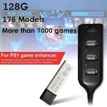 176 מודלים 128G 7000 משחקי משחק מורחב כפול לשחק נייד בית קלאסי עם רכזת משחק ילדי כפול לשחק עבור PS1 מיני