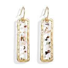 Regalos de novia pendientes cuadrados extensos para mujer nuevos pendientes grandes de lujo Vintage joyería de moda Brincos exagerados